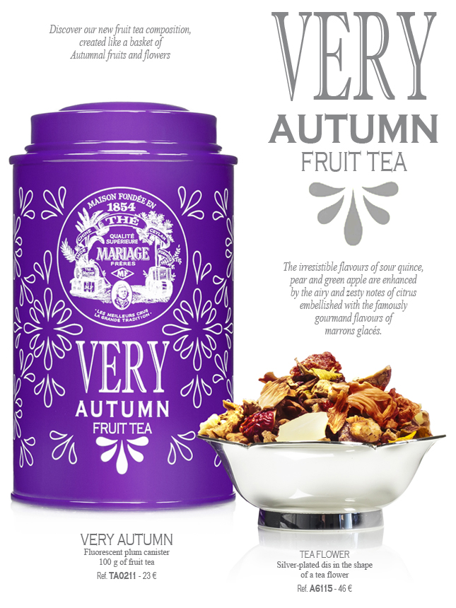VERY AUTUMN - New Fruit Tea with Marrons Glacés flavour