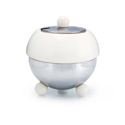 ART DECO 1930  - Stoneware sugar bowl white enamel