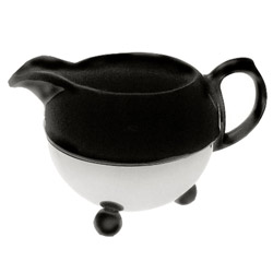 ART DECO 1930  - Stoneware milk jug black enamel