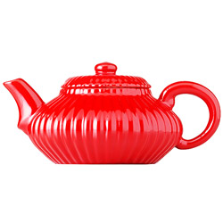 IMPERIAL FLOWER - Stoneware teapot red enamel - 4 cups