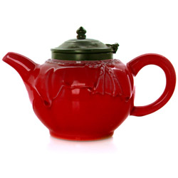 FORTUNE - Stoneware teapot red enamel - 4 cups