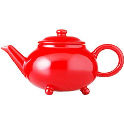 IMPERIAL PALACE - Stoneware teapot red enamel - 3 cups