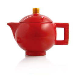 GLAMOUR  - Stoneware teapot red enamel - 3 cups