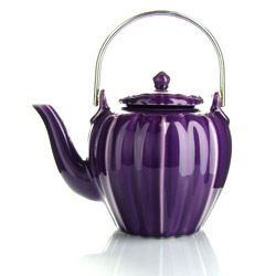 RANGOON - Stoneware teapot purple enamel - 4 cups