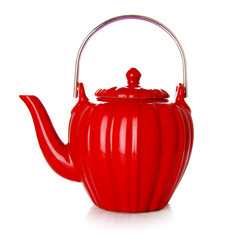RANGOON - Stoneware teapot red enamel - 4 cups