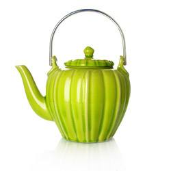 RANGOON - Stoneware teapot lime green enamel - 4 cups