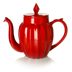 LUCKY STAR - Stoneware teapot red enamel - 4 cups