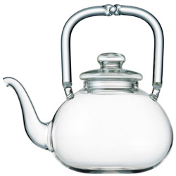 SPICE CLUB - Hand blown glass teapot 3 cups