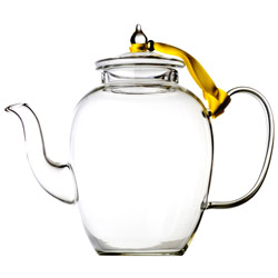 SWAN - Hand blown glass teapot 4 cups