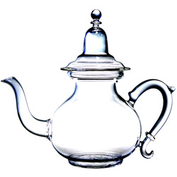 FRENCH RIVIERA  - Hand blown glass teapot 5 cups