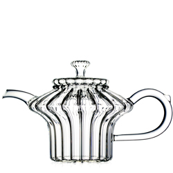 CALYPSO  - Hand blown glass teapot 4 cups