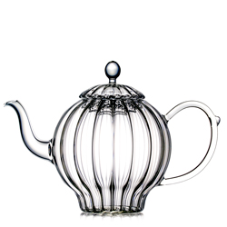 RUMBA  - Hand blown glass teapot 8 cups