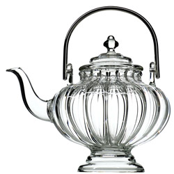 SIKKIM  - Hand blown glass teapot 4 cups