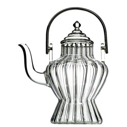 BHOUTHAN  - Hand blown glass teapot 3 cups