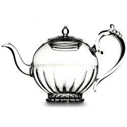 HAPPY QUEEN  - Hand blown glass teapot 5 cups