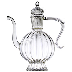 HAPPY KARMA  - Hand blown glass teapot 7 cups
