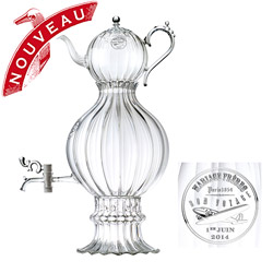Bon Voyage : Hand blown glass samovar