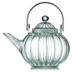TIBET  - Hand blown glass teapot 6 cups