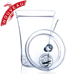 BON VOYAGE - Hand blown glass teapot Limited edition