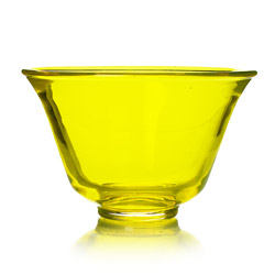 RAINBOW TEA - Glass tea cup yellow