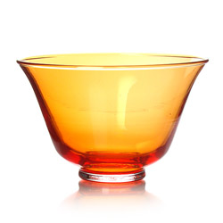 RAINBOW TEA - Glass tea cup orange