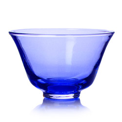 RAINBOW TEA - Glass tea cup french blue