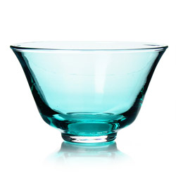 RAINBOW TEA - Glass tea cup turquoise