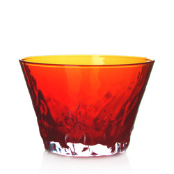 ZANZIBAR - Glass tea cup red