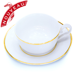 APOLLO - Porcelain tea cup & saucer gold trim