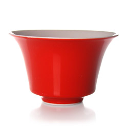 LUCKY  - Porcelain tea cup red