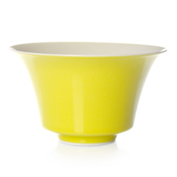 LUCKY  - Porcelain tea cup yellow