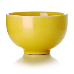 TAIPING - Stoneware tea cup yellow enamel