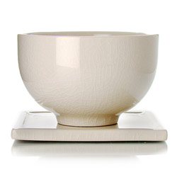TAIPING - Tazza & s/tazza in ceramica smalto avorio