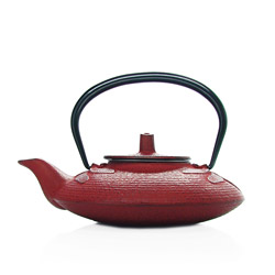 LIBELLULE 1930 - Cast-iron teapot red - 3 cups