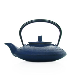 LIBELLULE 1930 - Cast-iron teapot blue - 3 cups