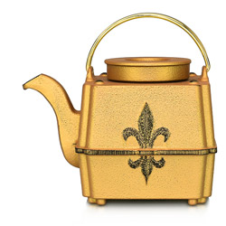 FILS DE FRANCE - Cast-iron teapot gold - 3 cups