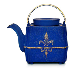 FILS DE FRANCE - Cast-iron teapot blue - 3 cups
