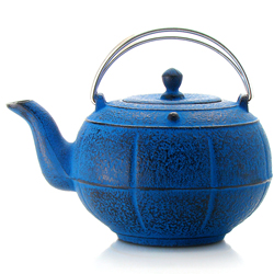 PLEINE LUNE® - Cast-iron teapot blue - 3 cups