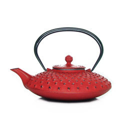 KANBIN - Cast-iron teapot red - 4 cups
