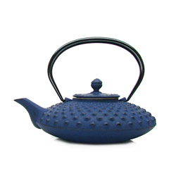 KANBIN - Cast-iron teapot blue - 4 cups
