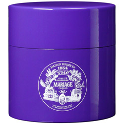TEA PARTY - Empty tea canister purple & lacquered