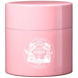 TEA PARTY - Empty tea canister pink & lacquered