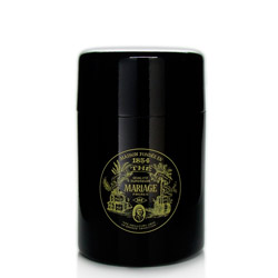 VINTAGE - Empty tea canister black & lacquered - 150 g
