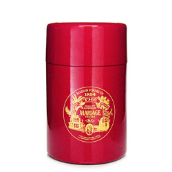 VINTAGE - Empty tea canister red & lacquered - 150 g