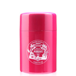 VINTAGE - Empty tea canister fuchsia pink & lacquered - 150 g