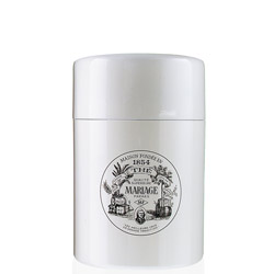 VINTAGE - Empty tea canister white & lacquered - 150 g