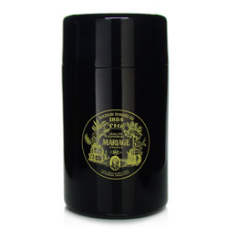 VINTAGE - Empty tea canister black & lacquered - 200 g