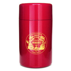 VINTAGE - Empty tea canister red & lacquered - 200 g