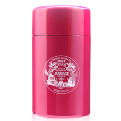VINTAGE - Empty tea canister fuchsia pink & lacquered - 200 g