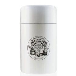 VINTAGE - Empty tea canister white & lacquered - 200 g